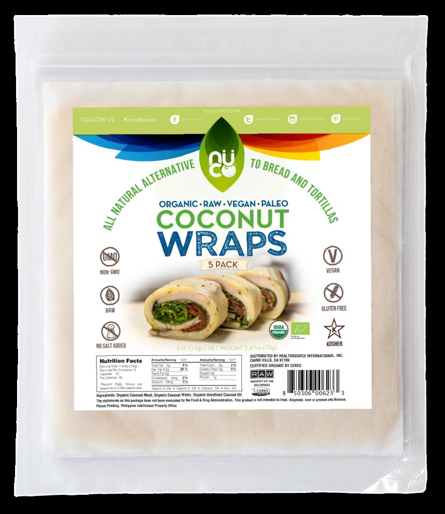 NUCO Organic Coconut Wraps - Original Flavor
