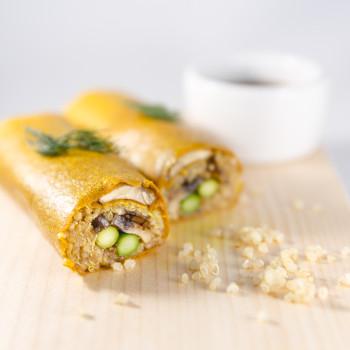 Garlic_Mushroom_Quinoa_Wrap